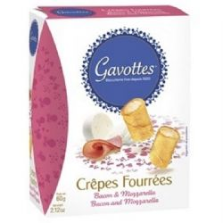 Crepes with Bacon & Mozzarella Cheese | Gavottes | Buy Online | UK